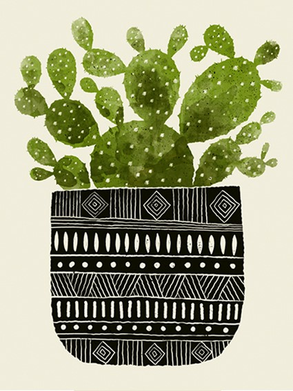 screen print, wall art, home decor, cactus, southwestern, succulent