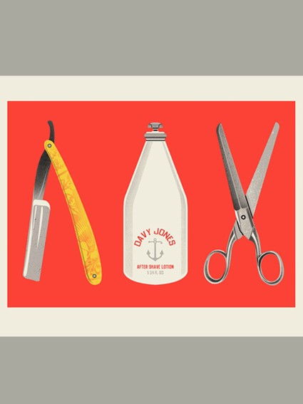 screen print, wall art, home decor, art, print, shave, barber shop