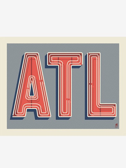 ATL Neon Greeting Card