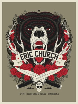 ERIC CHURCH -BEAR HEAD